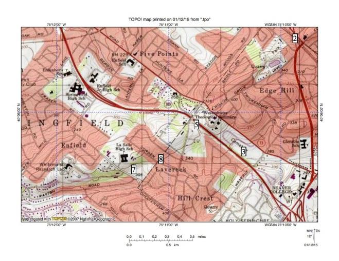 Figure 1. Seminary Wind Gap.